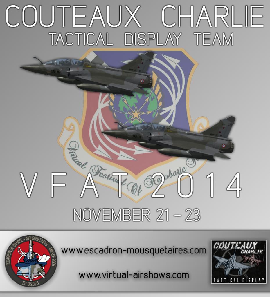 Affiche de la présentation des Couteaux Charlie virtuels au VFAT '14