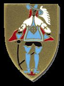 L'insigne de la III/561 : un Mousquetaire gris